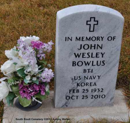 BOWLUS, JOHN WESLEY - Routt County, Colorado | JOHN WESLEY BOWLUS - Colorado Gravestone Photos