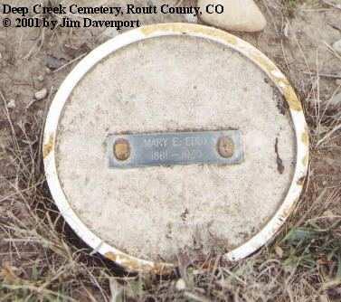 EDDY, MARY E. - Routt County, Colorado | MARY E. EDDY - Colorado Gravestone Photos