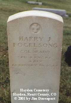 FOGELSONG, HARRY J. - Routt County, Colorado | HARRY J. FOGELSONG - Colorado Gravestone Photos