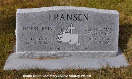 MONTGOMERY FRANSEN, BERNICE MAY - Routt County, Colorado | BERNICE MAY MONTGOMERY FRANSEN - Colorado Gravestone Photos