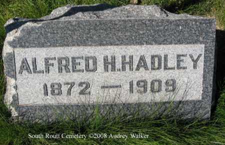 HADLEY, ALFRED H. - Routt County, Colorado | ALFRED H. HADLEY - Colorado Gravestone Photos