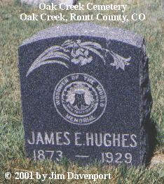 HUGHES, JAMES E. - Routt County, Colorado | JAMES E. HUGHES - Colorado Gravestone Photos