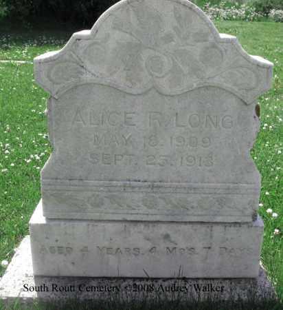 LONG, ALICE R. - Routt County, Colorado | ALICE R. LONG - Colorado Gravestone Photos