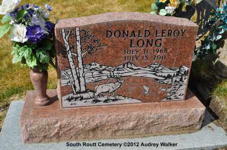 LONG, DONALD LEROY - Routt County, Colorado | DONALD LEROY LONG - Colorado Gravestone Photos