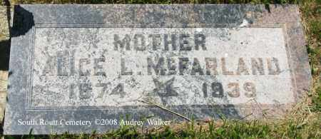 MCFARLAND, ALICE L. - Routt County, Colorado | ALICE L. MCFARLAND - Colorado Gravestone Photos