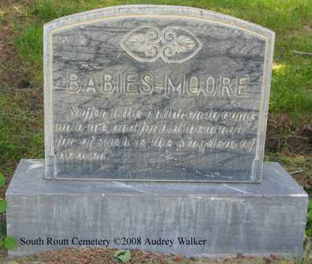 MOORE, BABIES - Routt County, Colorado | BABIES MOORE - Colorado Gravestone Photos