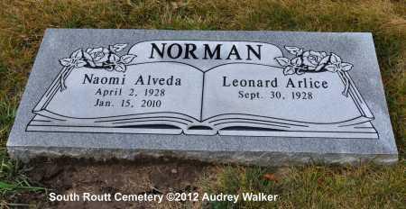 NORMAN, LEONARD ARLICE - Routt County, Colorado | LEONARD ARLICE NORMAN - Colorado Gravestone Photos