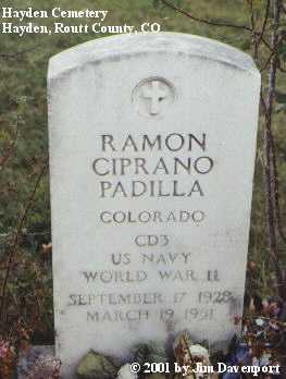 PADILLA, RAMON CIPRANO - Routt County, Colorado | RAMON CIPRANO PADILLA - Colorado Gravestone Photos