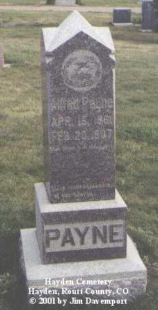 PAYNE, ALFRED - Routt County, Colorado   ALFRED PAYNE - Colorado Gravestone Photos