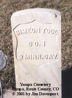 TODD, SIMEON - Routt County, Colorado | SIMEON TODD - Colorado Gravestone Photos
