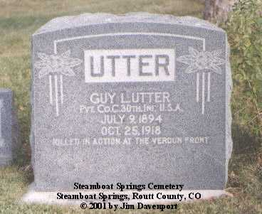 UTTER, GUY - Routt County, Colorado | GUY UTTER - Colorado Gravestone Photos