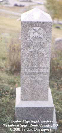 WANNEMAKER, Z.H. - Routt County, Colorado | Z.H. WANNEMAKER - Colorado Gravestone Photos