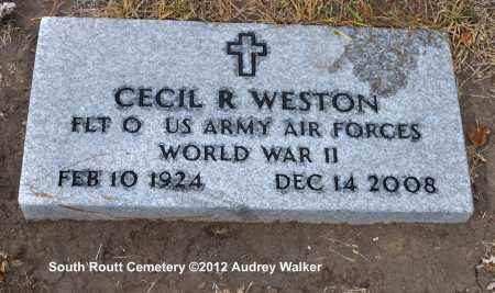 WESTON, CECIL R. - Routt County, Colorado | CECIL R. WESTON - Colorado Gravestone Photos