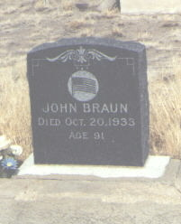 BRAUN, JOHN - Saguache County, Colorado | JOHN BRAUN - Colorado Gravestone Photos