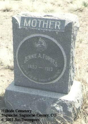 FORBES, JENNIE A. - Saguache County, Colorado | JENNIE A. FORBES - Colorado Gravestone Photos