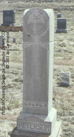 PETERSON, ALEXANDER E. - Saguache County, Colorado | ALEXANDER E. PETERSON - Colorado Gravestone Photos