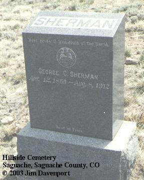 SHERMAN, GEORGE C. - Saguache County, Colorado | GEORGE C. SHERMAN - Colorado Gravestone Photos