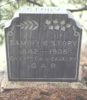 STORY, SAMUEL C. - Saguache County, Colorado | SAMUEL C. STORY - Colorado Gravestone Photos