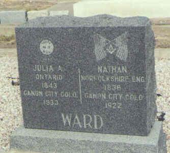WARD, NATHAN - Saguache County, Colorado | NATHAN WARD - Colorado Gravestone Photos