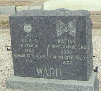 WARD, NATHAN - Saguache County, Colorado | NATHAN WARD - Colorado Gravestone Photos