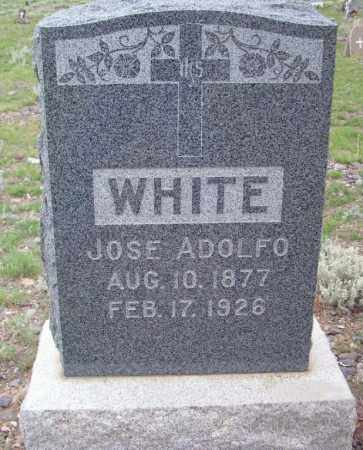 WHITE, JOSE ADOLFO - Saguache County, Colorado | JOSE ADOLFO WHITE - Colorado Gravestone Photos