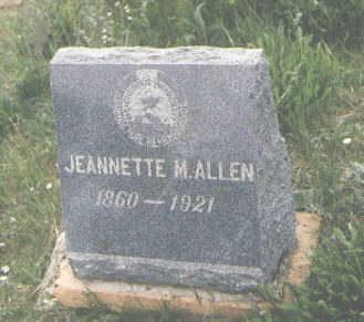 ALLEN, JEANNETTE M. - San Juan County, Colorado   JEANNETTE M. ALLEN - Colorado Gravestone Photos