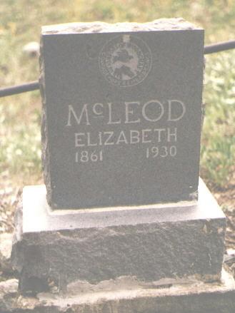 MCLEOD, ELIZABETH - San Juan County, Colorado | ELIZABETH MCLEOD - Colorado Gravestone Photos