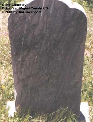 EMERSON, ANOYE - San Miguel County, Colorado | ANOYE EMERSON - Colorado Gravestone Photos