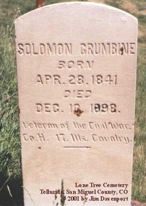 GRUMBINE, SOLOMON - San Miguel County, Colorado   SOLOMON GRUMBINE - Colorado Gravestone Photos
