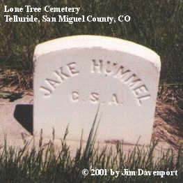 HUMMEL, JAKE - San Miguel County, Colorado | JAKE HUMMEL - Colorado Gravestone Photos