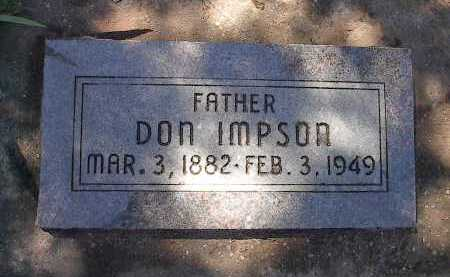 "IMPSON, JONATHAN EUGENE  ""DON"" - San Miguel County, Colorado | JONATHAN EUGENE  ""DON"" IMPSON - Colorado Gravestone Photos"