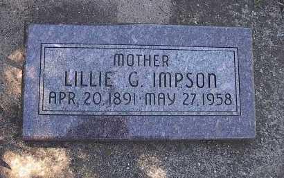 IMPSON, LILLIAN (LILLIE) GRACE - San Miguel County, Colorado | LILLIAN (LILLIE) GRACE IMPSON - Colorado Gravestone Photos