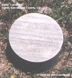 MARCHAND, PEARL - San Miguel County, Colorado | PEARL MARCHAND - Colorado Gravestone Photos