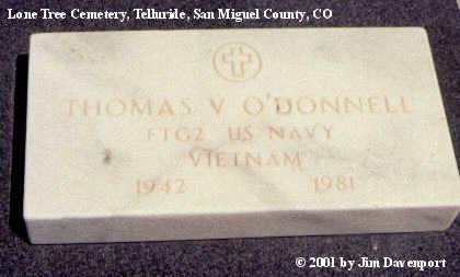 O'DONNELL, THOMAS V. - San Miguel County, Colorado   THOMAS V. O'DONNELL - Colorado Gravestone Photos