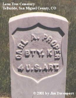 PROPER, CARL A. - San Miguel County, Colorado | CARL A. PROPER - Colorado Gravestone Photos