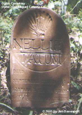 TATUM, NELLIE - San Miguel County, Colorado   NELLIE TATUM - Colorado Gravestone Photos