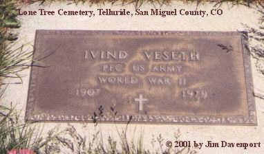 VESETH, IVIND - San Miguel County, Colorado | IVIND VESETH - Colorado Gravestone Photos