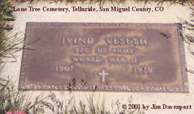 VESETH, IVIND - San Miguel County, Colorado | IVIND VESETH - Colorado Gravestone Photos
