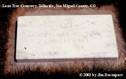 WILSON, GUY GARY - San Miguel County, Colorado | GUY GARY WILSON - Colorado Gravestone Photos