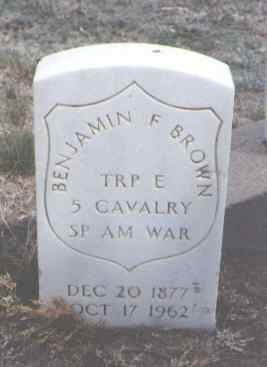 BROWN, BENJAMIN F. - Sedgwick County, Colorado | BENJAMIN F. BROWN - Colorado Gravestone Photos