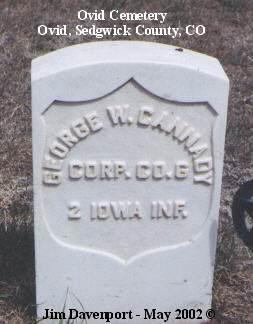 CANNADY, GEORGE W. - Sedgwick County, Colorado   GEORGE W. CANNADY - Colorado Gravestone Photos