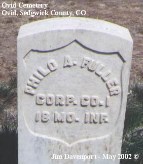 FULLER, PHILO A. - Sedgwick County, Colorado | PHILO A. FULLER - Colorado Gravestone Photos