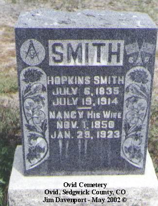 SMITH, HOPKINS - Sedgwick County, Colorado | HOPKINS SMITH - Colorado Gravestone Photos