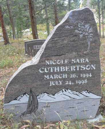 CUTHBERTSON, NICOLE SARA - Summit County, Colorado | NICOLE SARA CUTHBERTSON - Colorado Gravestone Photos