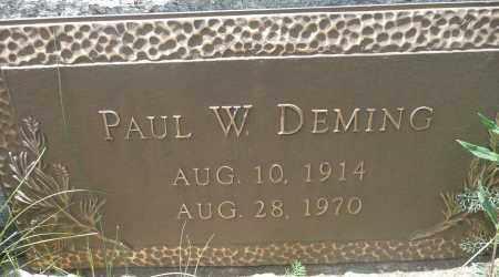 DEMING, PAUL W. - Summit County, Colorado   PAUL W. DEMING - Colorado Gravestone Photos