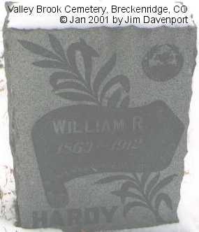 HARDY, WILLIAM R. - Summit County, Colorado | WILLIAM R. HARDY - Colorado Gravestone Photos