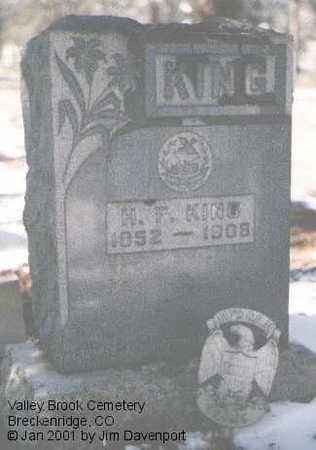 KING, H. F. - Summit County, Colorado   H. F. KING - Colorado Gravestone Photos