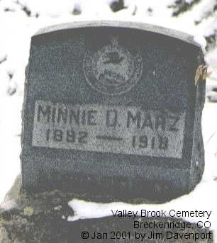 MARZ, MINNIE D. - Summit County, Colorado | MINNIE D. MARZ - Colorado Gravestone Photos