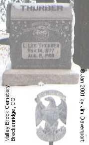 THURBER, L. LEE - Summit County, Colorado   L. LEE THURBER - Colorado Gravestone Photos