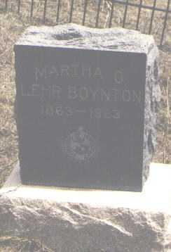 LEHR BOYNTON, MARTHA O. - Teller County, Colorado | MARTHA O. LEHR BOYNTON - Colorado Gravestone Photos